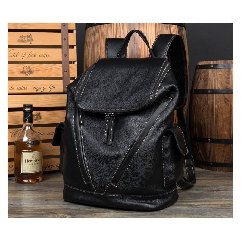 40195 - Вместительный городской рюкзак Coral Royal из натуральной кожи в стиле Craze Horse: кожа первый слой, унисекс