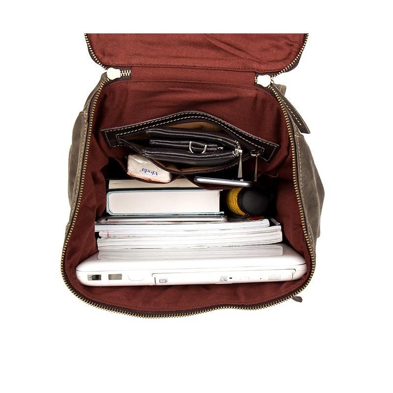 Вместительный городской рюкзак Coral Royal из натуральной кожи в стиле Craze Horse: кожа первый слой, унисекс 215661