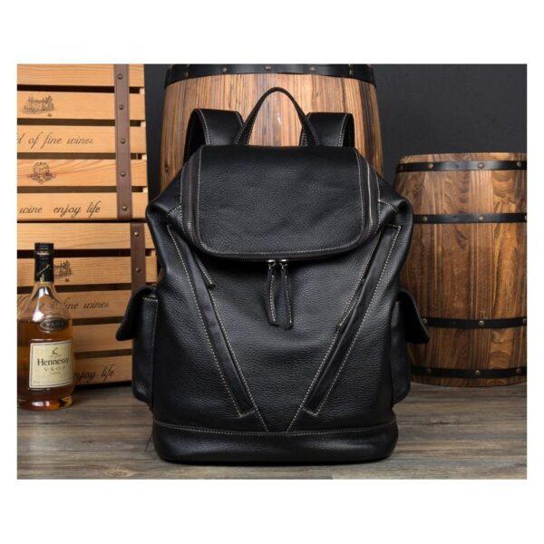 40200 - Вместительный городской рюкзак Coral Royal из натуральной кожи в стиле Craze Horse: кожа первый слой, унисекс