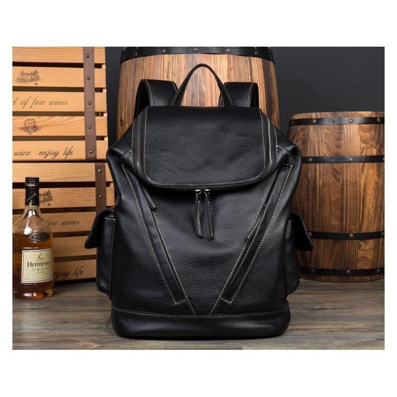 Вместительный городской рюкзак Coral Royal из натуральной кожи в стиле Craze Horse: кожа первый слой, унисекс 215665