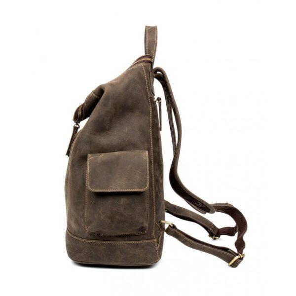 40204 - Вместительный городской рюкзак Coral Royal из натуральной кожи в стиле Craze Horse: кожа первый слой, унисекс