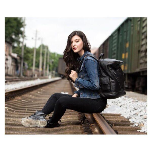 40207 - Вместительный городской рюкзак Coral Royal из натуральной кожи в стиле Craze Horse: кожа первый слой, унисекс
