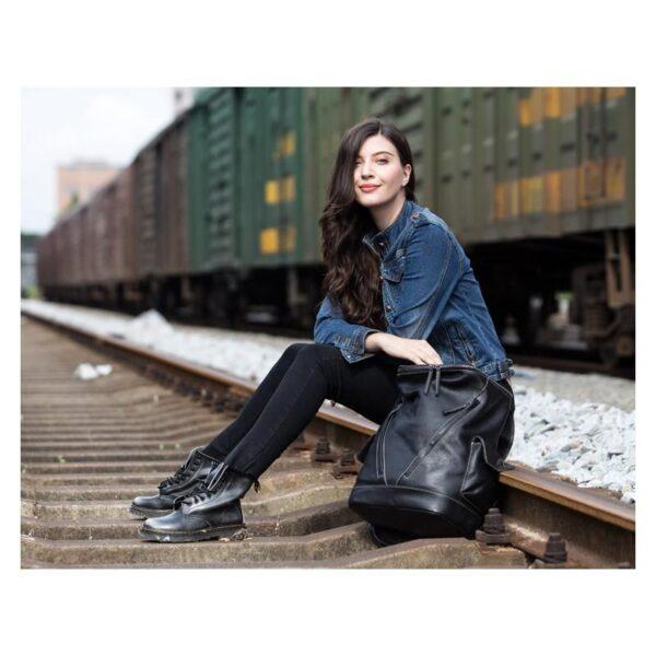 40208 - Вместительный городской рюкзак Coral Royal из натуральной кожи в стиле Craze Horse: кожа первый слой, унисекс
