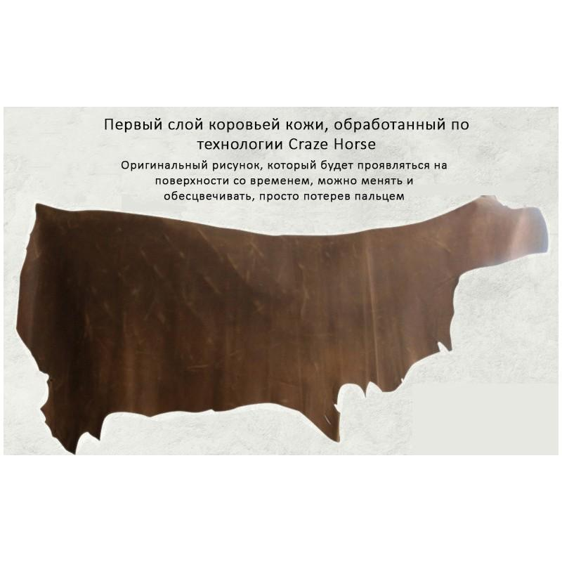 Вместительный городской рюкзак Coral Royal из натуральной кожи в стиле Craze Horse: кожа первый слой, унисекс 215675