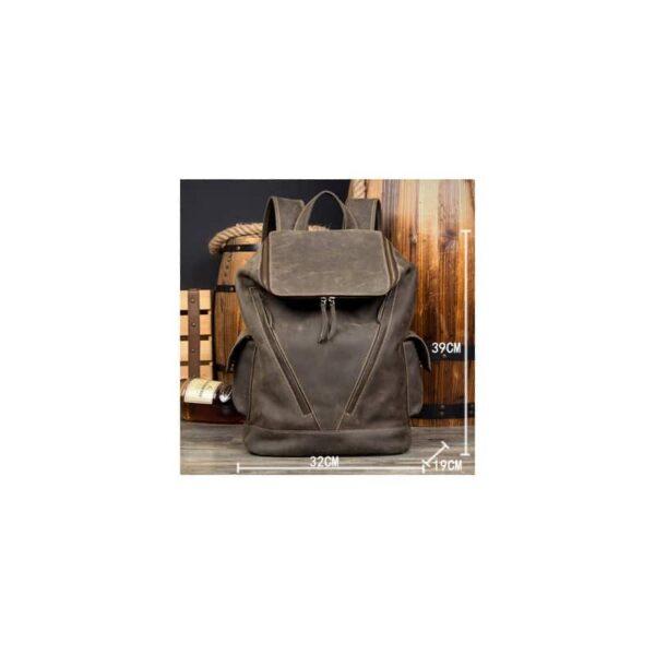 40211 - Вместительный городской рюкзак Coral Royal из натуральной кожи в стиле Craze Horse: кожа первый слой, унисекс