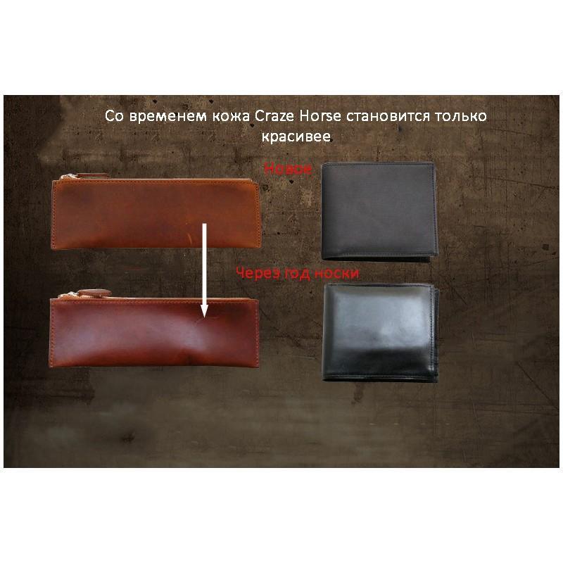 Вместительный городской рюкзак Coral Royal из натуральной кожи в стиле Craze Horse: кожа первый слой, унисекс 215677