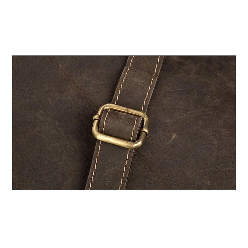 Вместительный городской рюкзак Coral Royal из натуральной кожи в стиле Craze Horse: кожа первый слой, унисекс 215680