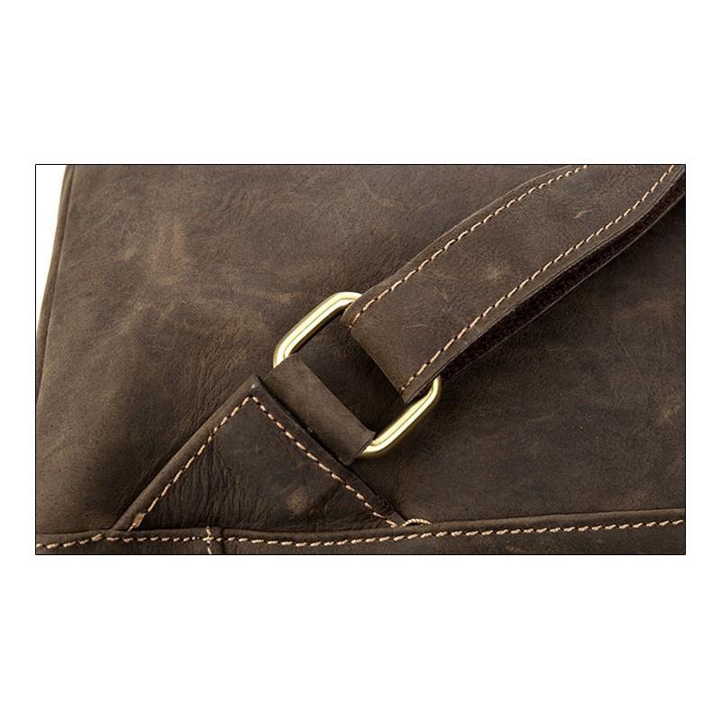 Вместительный городской рюкзак Coral Royal из натуральной кожи в стиле Craze Horse: кожа первый слой, унисекс 215682
