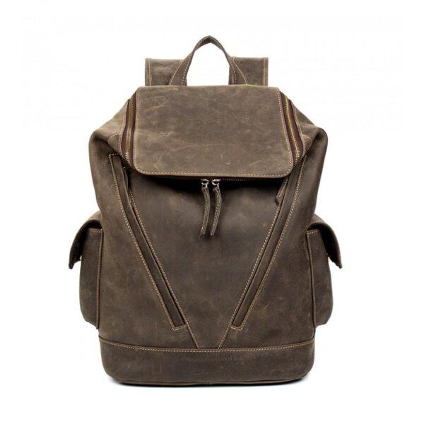 40218 - Вместительный городской рюкзак Coral Royal из натуральной кожи в стиле Craze Horse: кожа первый слой, унисекс