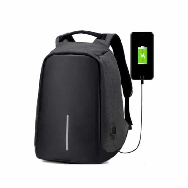 Городской рюкзак-антивор Bobby с защитой от карманников и USB-портом для зарядки: водонепроницаемая ткань с защитой от порезов