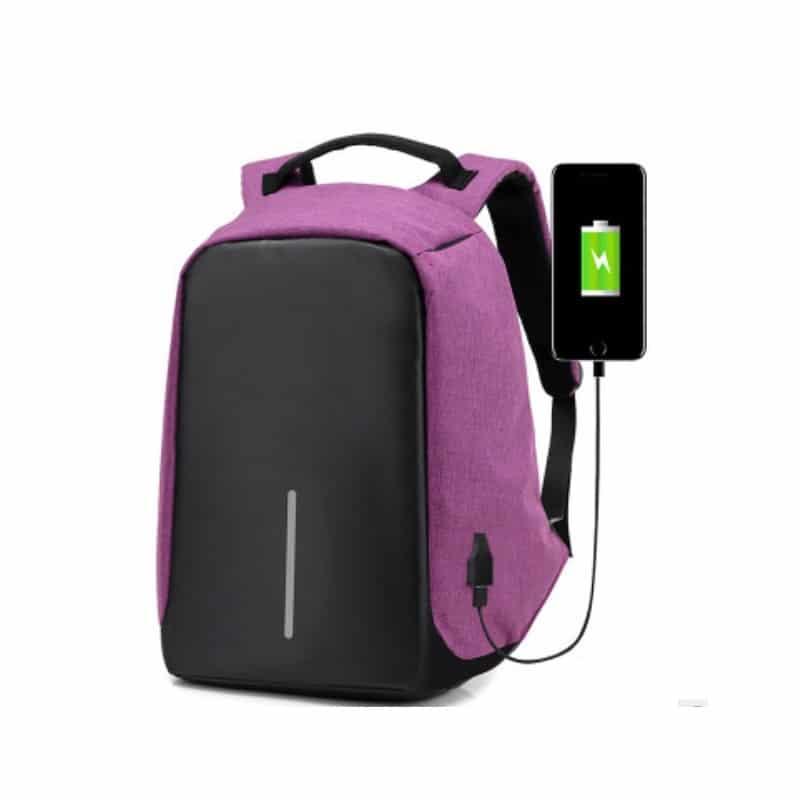 Городской рюкзак-антивор Bobby с защитой от карманников и USB-портом для зарядки: водонепроницаемая ткань с защитой от порезов 215687