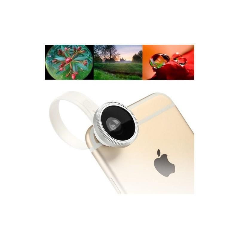 Набор объективов 3-в-1: рыбий глаз + 10x макро + 0.67x широкоугольный, для iPhone 6, iPhone 5, Samsung Galaxy, HTC, Nokia, LG