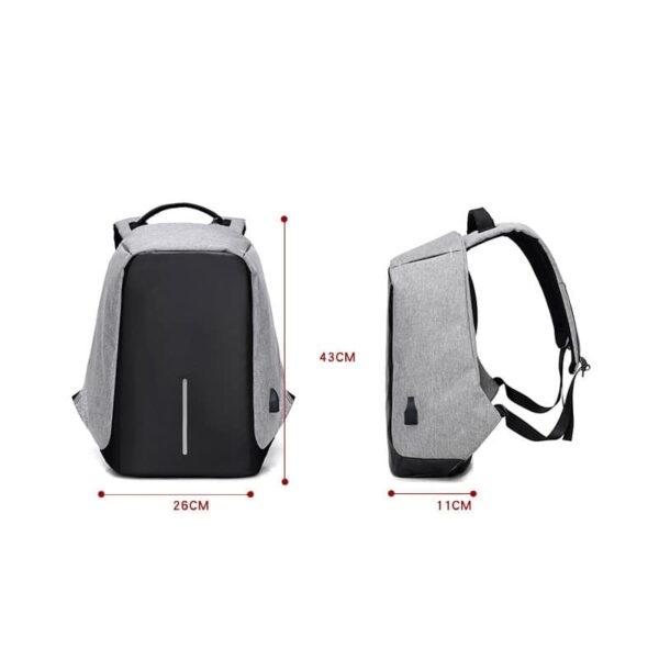 40228 - Городской рюкзак-антивор Bobby с защитой от карманников и USB-портом для зарядки: водонепроницаемая ткань с защитой от порезов