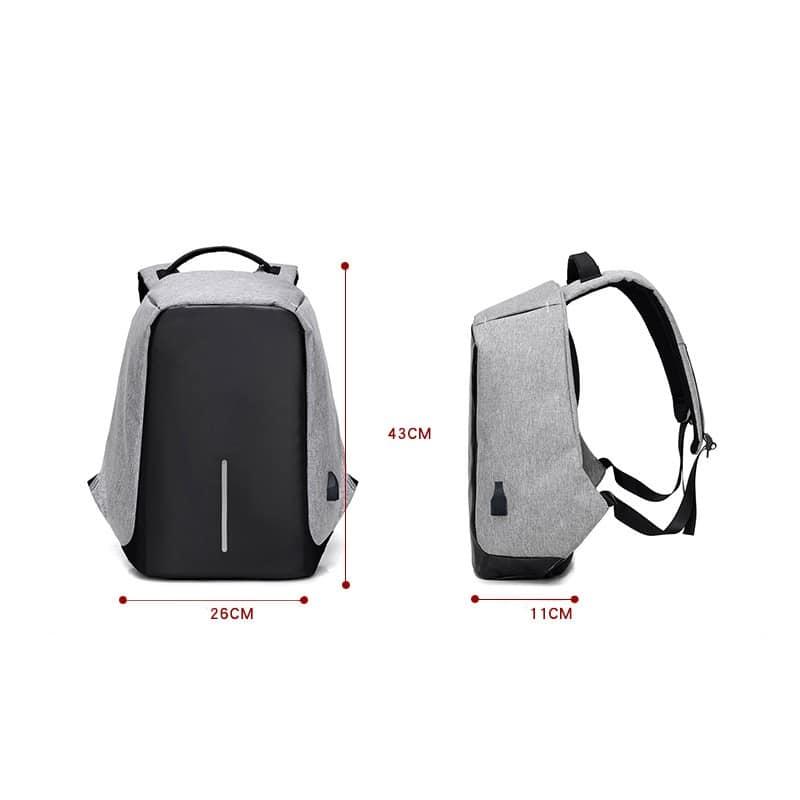 Городской рюкзак-антивор Bobby с защитой от карманников и USB-портом для зарядки: водонепроницаемая ткань с защитой от порезов 215692