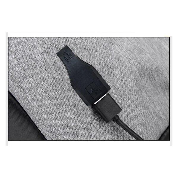 40232 - Городской рюкзак-антивор Bobby с защитой от карманников и USB-портом для зарядки: водонепроницаемая ткань с защитой от порезов