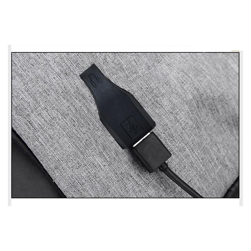 Городской рюкзак-антивор Bobby с защитой от карманников и USB-портом для зарядки: водонепроницаемая ткань с защитой от порезов 215696