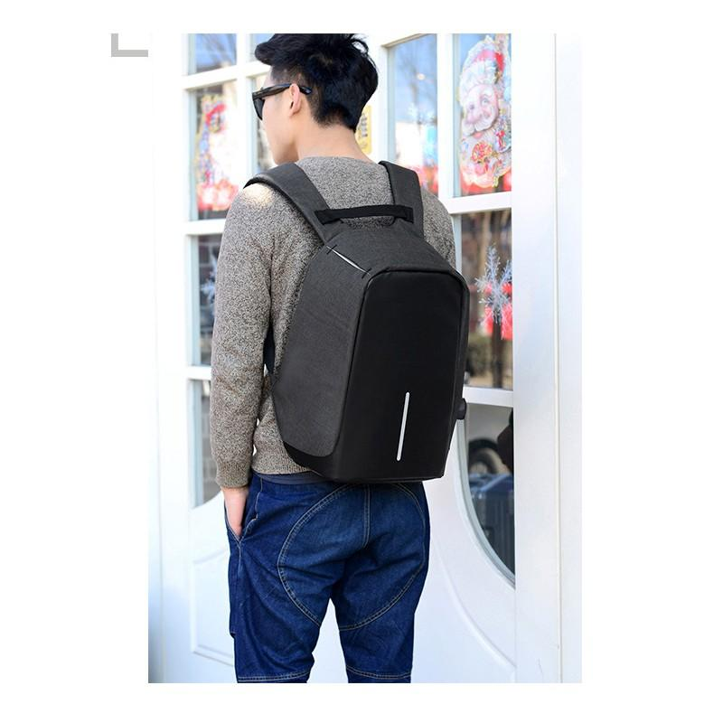 Городской рюкзак-антивор Bobby с защитой от карманников и USB-портом для зарядки: водонепроницаемая ткань с защитой от порезов 215697