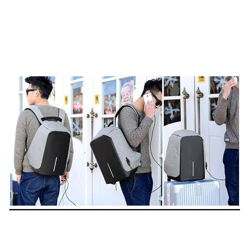 Городской рюкзак-антивор Bobby с защитой от карманников и USB-портом для зарядки: водонепроницаемая ткань с защитой от порезов 215699