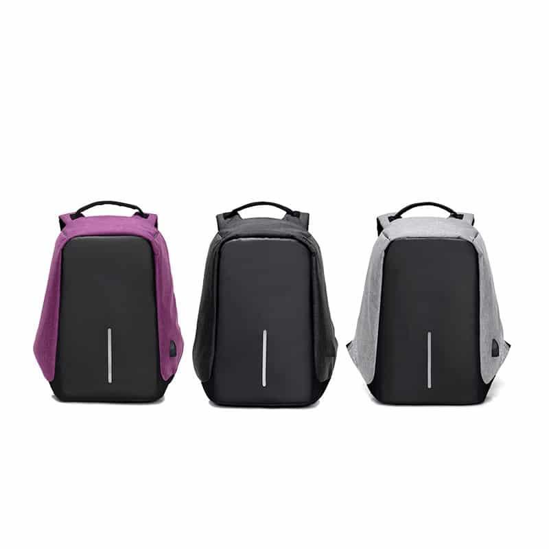 Городской рюкзак-антивор Bobby с защитой от карманников и USB-портом для зарядки: водонепроницаемая ткань с защитой от порезов 215703