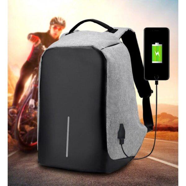 40244 - Городской рюкзак-антивор Bobby с защитой от карманников и USB-портом для зарядки: водонепроницаемая ткань с защитой от порезов