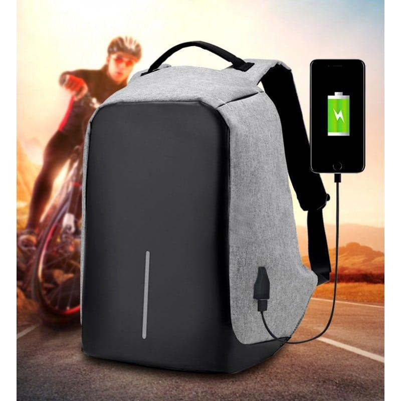 Городской рюкзак-антивор Bobby с защитой от карманников и USB-портом для зарядки: водонепроницаемая ткань с защитой от порезов 215708