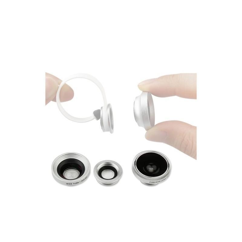 Набор объективов 3-в-1: рыбий глаз + 10x макро + 0.67x широкоугольный, для iPhone 6, iPhone 5, Samsung Galaxy, HTC, Nokia, LG 186365