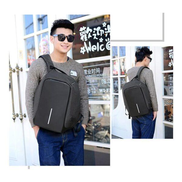 40247 - Городской рюкзак-антивор Bobby с защитой от карманников и USB-портом для зарядки: водонепроницаемая ткань с защитой от порезов