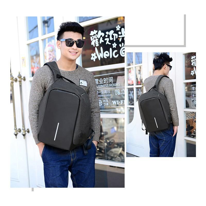 Городской рюкзак-антивор Bobby с защитой от карманников и USB-портом для зарядки: водонепроницаемая ткань с защитой от порезов 215711