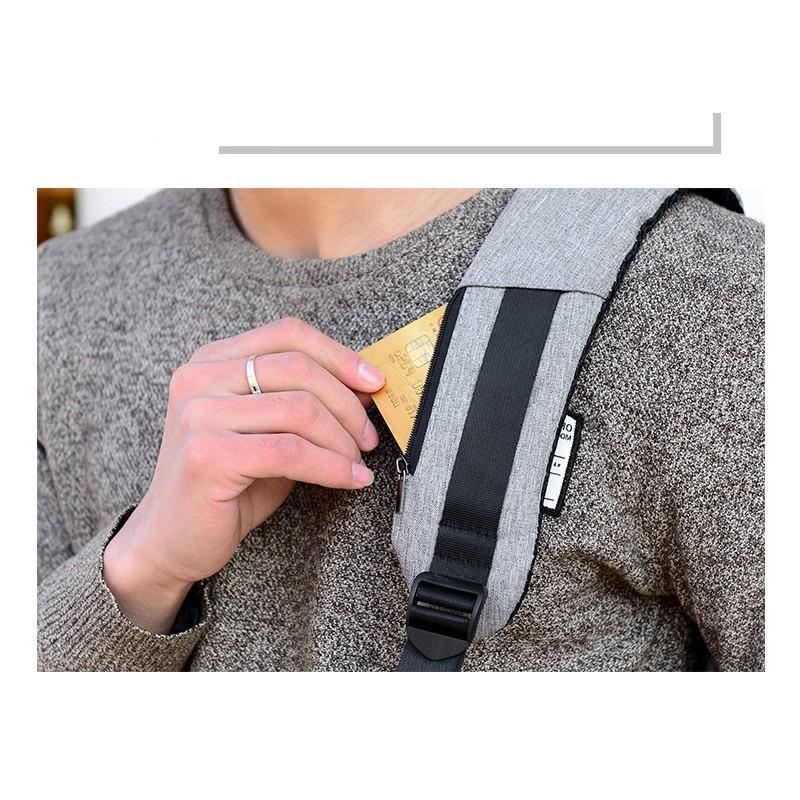 Городской рюкзак-антивор Bobby с защитой от карманников и USB-портом для зарядки: водонепроницаемая ткань с защитой от порезов 215712