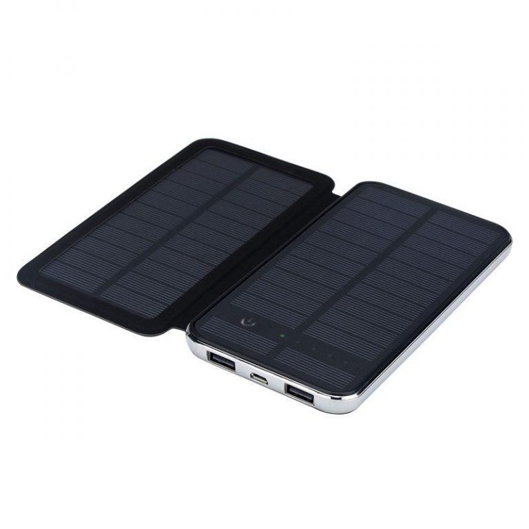 402 - Внешний аккумулятор RIPA C-G736 с солнечной панелью – 5В 3Вт, 10000 мАч, 2x USB