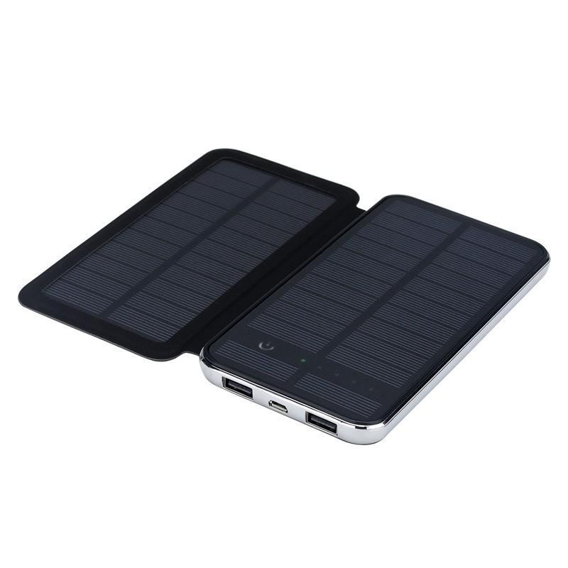 Внешний аккумулятор RIPA C-G736 с солнечной панелью – 5В 3Вт, 10000 мАч, 2x USB 183545
