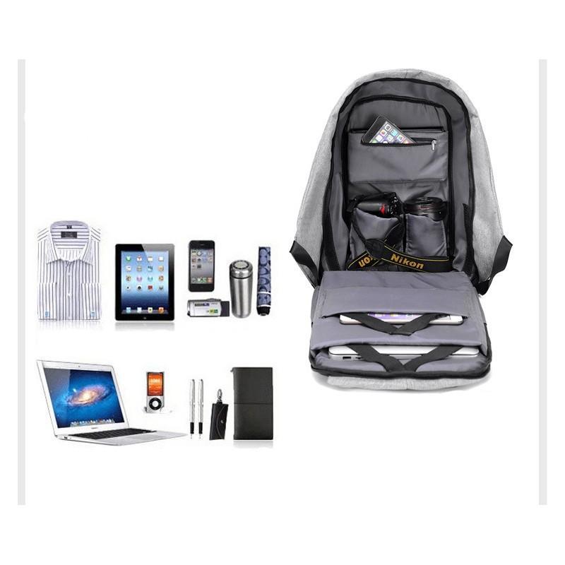 Городской рюкзак-антивор Bobby с защитой от карманников и USB-портом для зарядки: водонепроницаемая ткань с защитой от порезов 215714