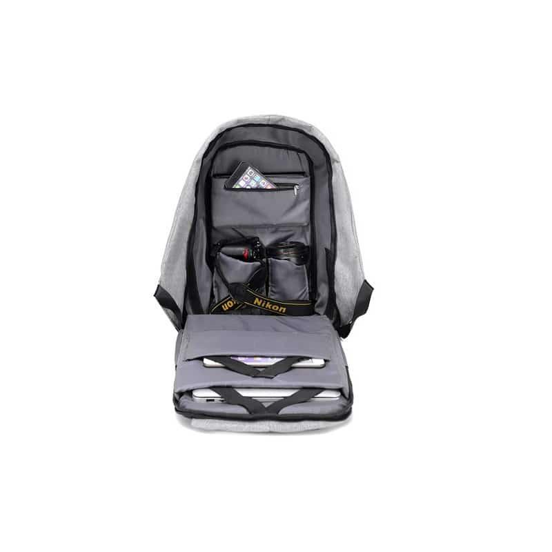 Городской рюкзак-антивор Bobby с защитой от карманников и USB-портом для зарядки: водонепроницаемая ткань с защитой от порезов 215715