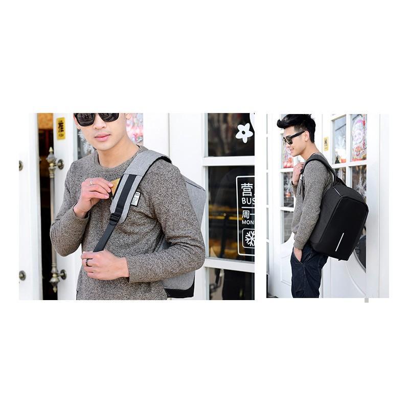 Городской рюкзак-антивор Bobby с защитой от карманников и USB-портом для зарядки: водонепроницаемая ткань с защитой от порезов 215717