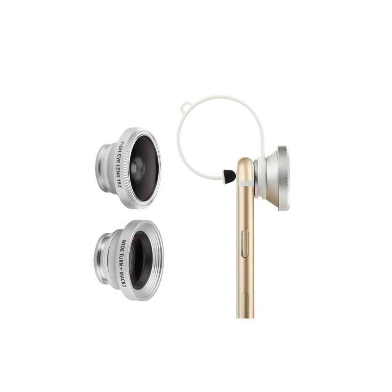 Набор объективов 3-в-1: рыбий глаз + 10x макро + 0.67x широкоугольный, для iPhone 6, iPhone 5, Samsung Galaxy, HTC, Nokia, LG 186366