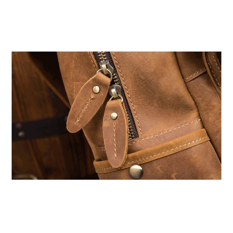Мужская сумка-портфель Mantime June из натуральной кожи Crazy Horse в стиле ретро 215754