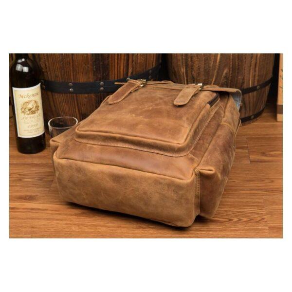 40292 - Мужская сумка-портфель Mantime June из натуральной кожи Crazy Horse в стиле ретро