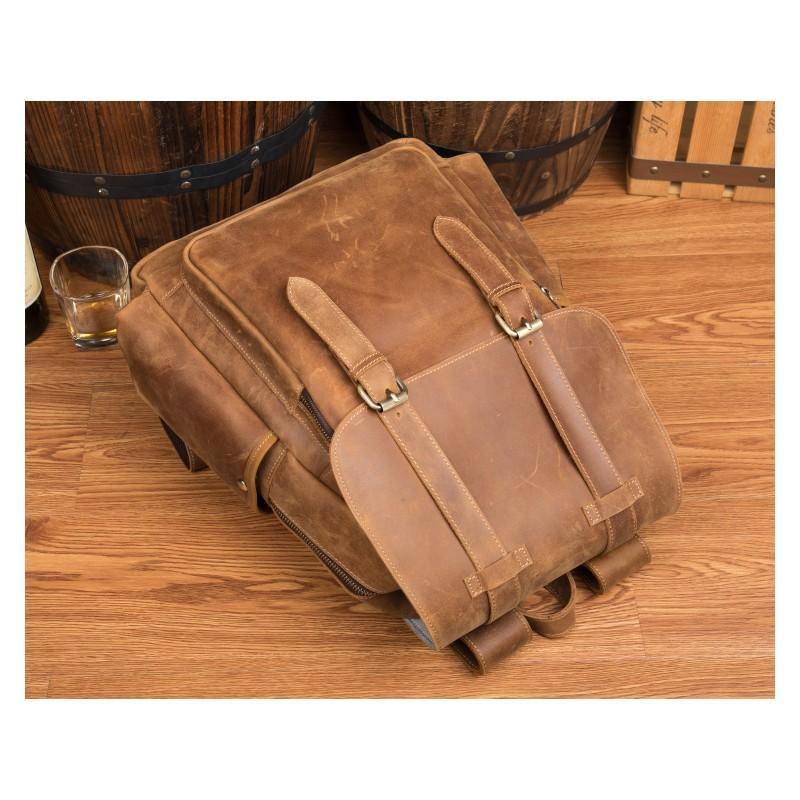 Мужская сумка-портфель Mantime June из натуральной кожи Crazy Horse в стиле ретро 215756