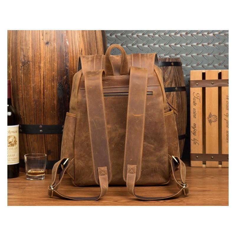 Мужская сумка-портфель Mantime June из натуральной кожи Crazy Horse в стиле ретро 215757
