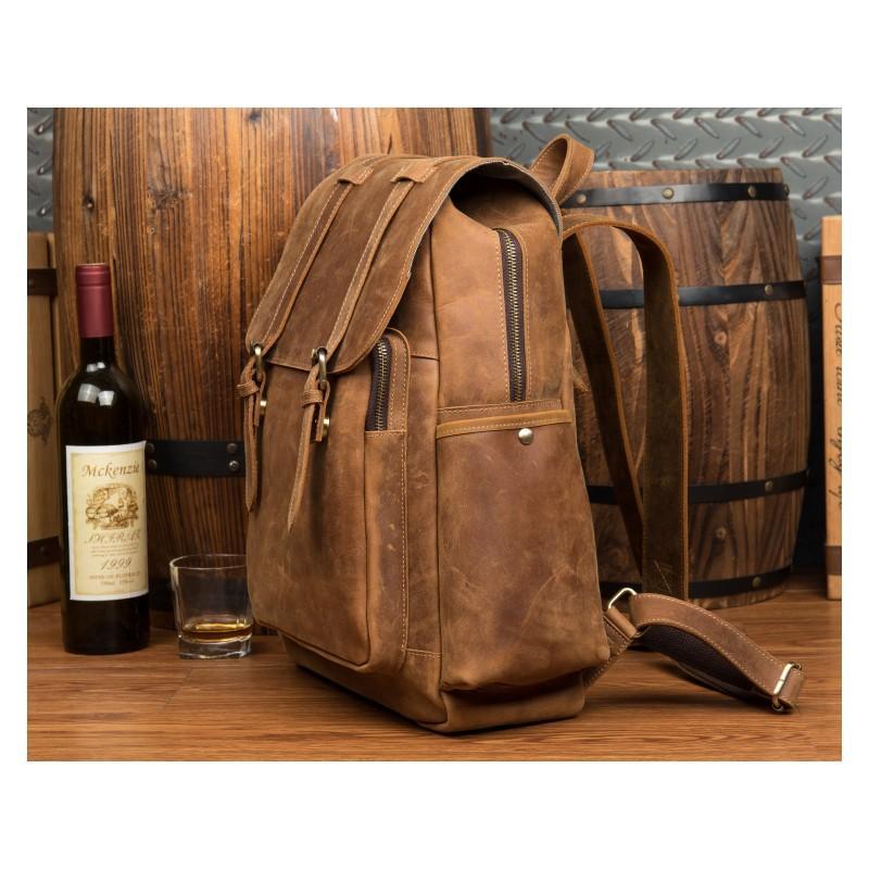 Мужская сумка-портфель Mantime June из натуральной кожи Crazy Horse в стиле ретро 215758
