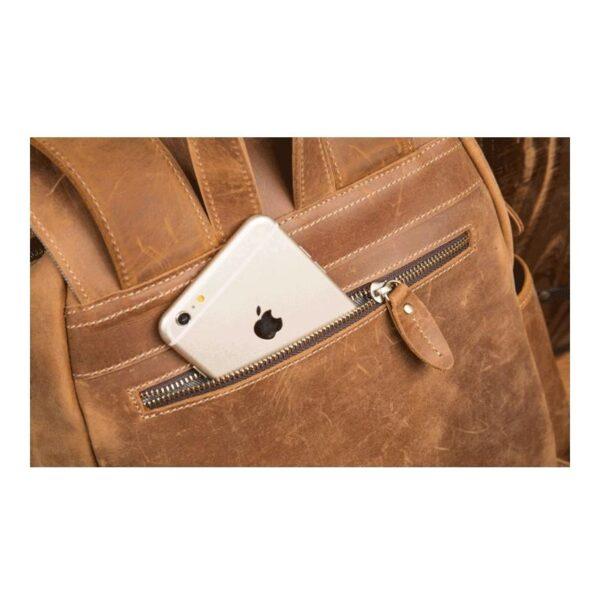 40296 - Мужская сумка-портфель Mantime June из натуральной кожи Crazy Horse в стиле ретро