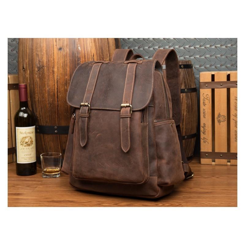 899c5993c3c6 Мужская сумка-портфель Mantime June из натуральной кожи Crazy Horse в стиле  ретро - Темно