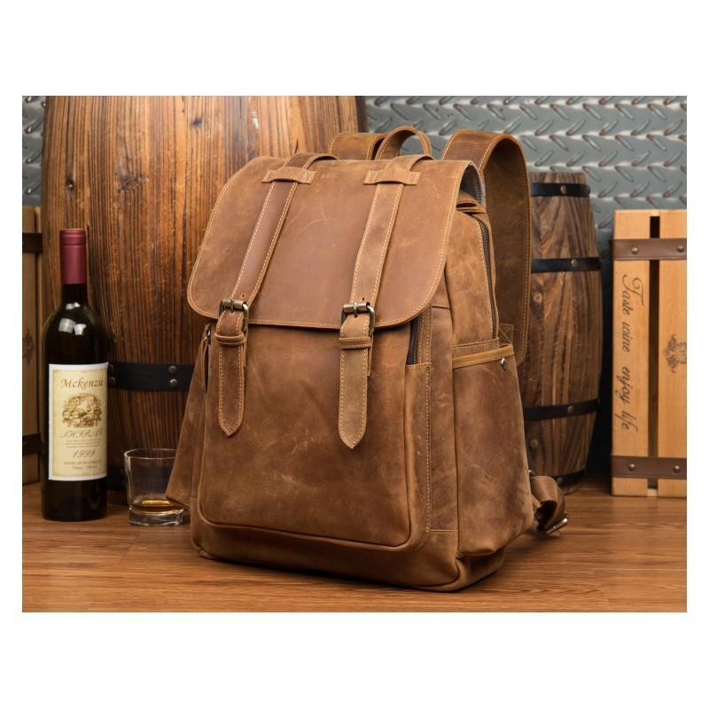 Мужская сумка-портфель Mantime June из натуральной кожи Crazy Horse в стиле ретро 215761