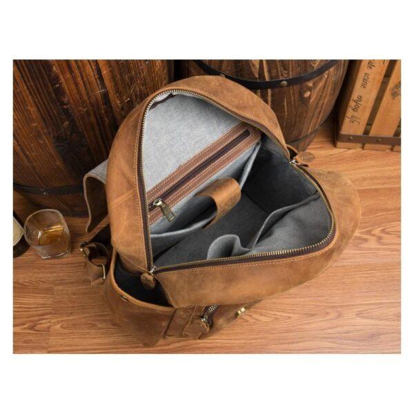 40300 - Мужская сумка-портфель Mantime June из натуральной кожи Crazy Horse в стиле ретро