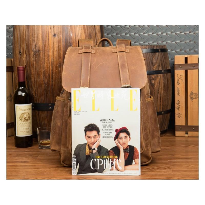 Мужская сумка-портфель Mantime June из натуральной кожи Crazy Horse в стиле ретро 215763