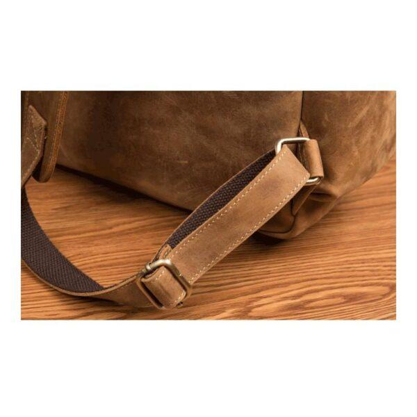 40302 - Мужская сумка-портфель Mantime June из натуральной кожи Crazy Horse в стиле ретро