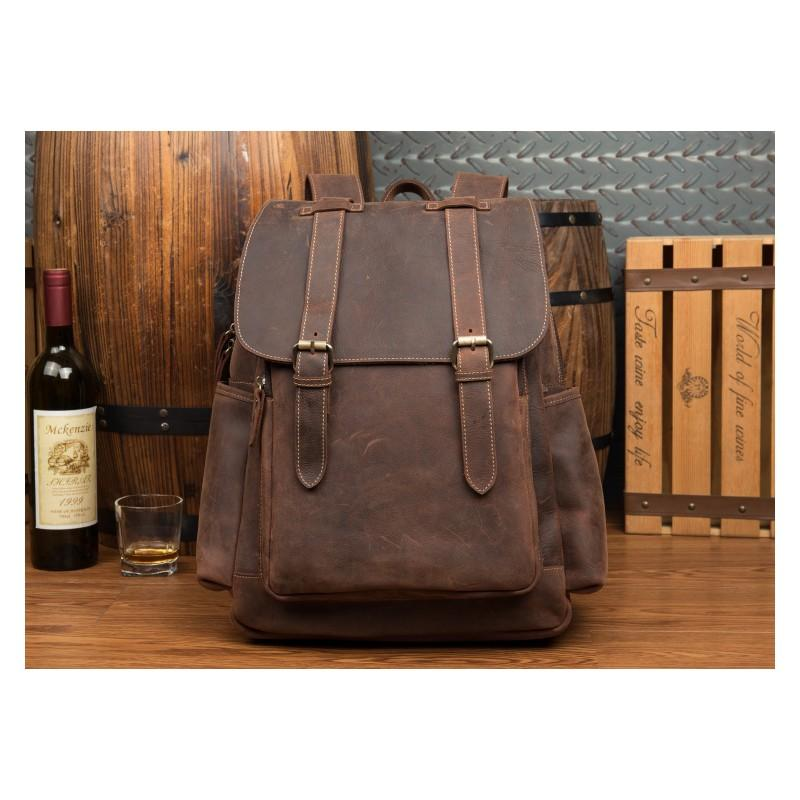 Мужская сумка-портфель Mantime June из натуральной кожи Crazy Horse в стиле ретро 215766