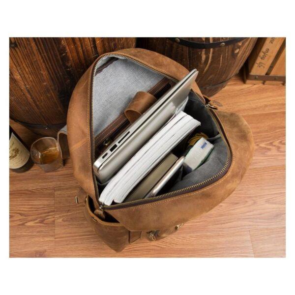 40305 - Мужская сумка-портфель Mantime June из натуральной кожи Crazy Horse в стиле ретро