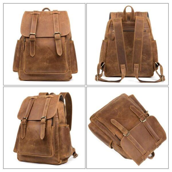 40308 - Мужская сумка-портфель Mantime June из натуральной кожи Crazy Horse в стиле ретро