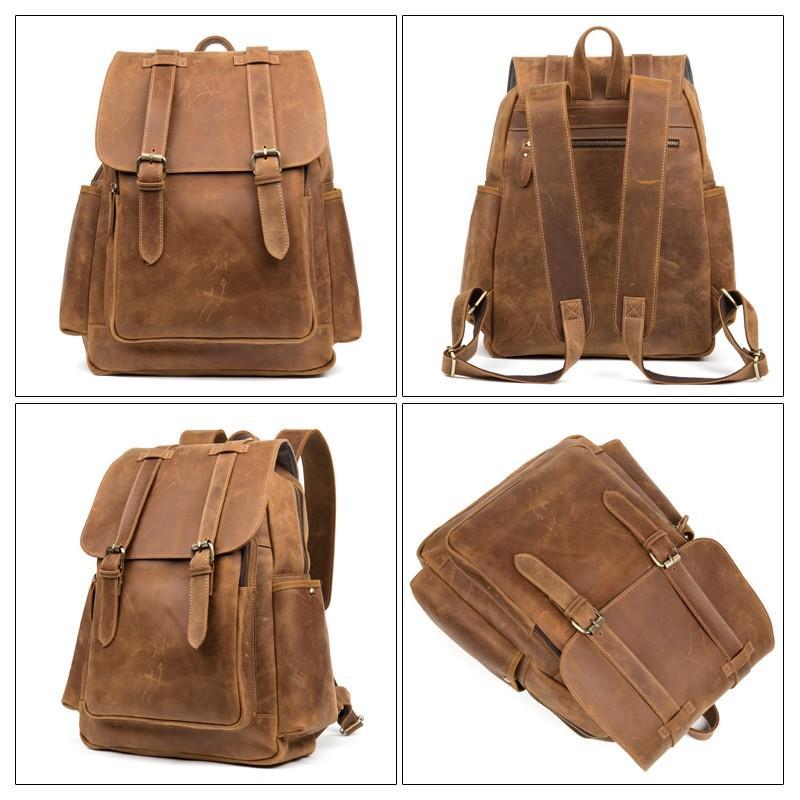 Мужская сумка-портфель Mantime June из натуральной кожи Crazy Horse в стиле ретро 215770